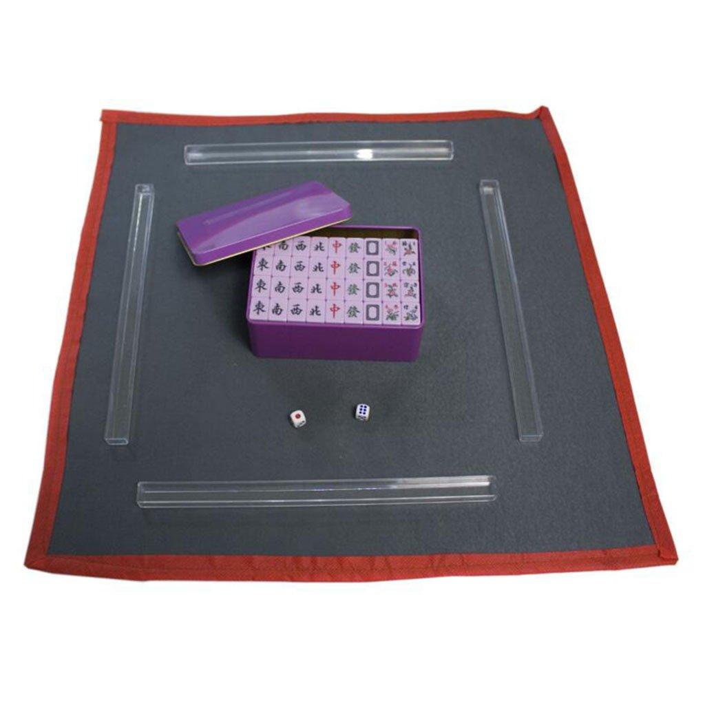 Purple LI JING SHOP  Mini Home Mahjong   Hand Rubbing Small Tourism Creative Portable Mahjong Card Size  2  1.4  1CM ( color   Green )