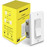 Z-Wave Plus Dimmer Switch in Wall Light Switch Neutral Required Support 3-Way Installation Works with Smartthings, Wink, Sign