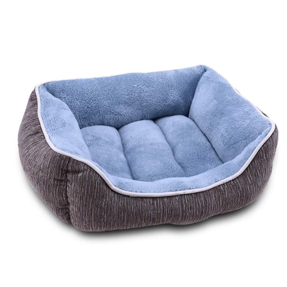 Coffee color M Coffee color M Ryan Pet Nest, Warm Pet Bed Kennel Dog Cat Bed Soft Pet Nest Mat Cat Pad (color   Coffee color, Size   M)