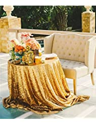 Beau B COOL 72u0027u0027 Round Gold Sequin Tablecloth Wedding Tablecloth Sparkly Sequin  Linens For
