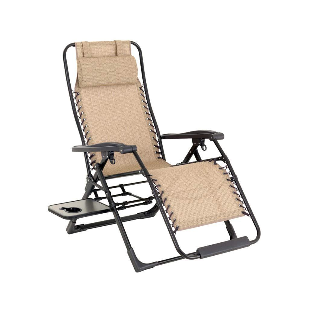 LLRDIAN Mittagspause-Stuhl, Liegestuhl, Bett, Aluminium-Lounge-Sessel
