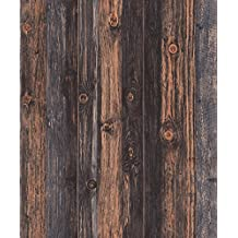 Blooming Wall Faux Vintage Barnwood Wood Wallpaper Rolls Wood Panel Wallpaper Wall Murals for Home Decorations,20.8 In32.8 Ft=57 Sq.ft,Multicolor