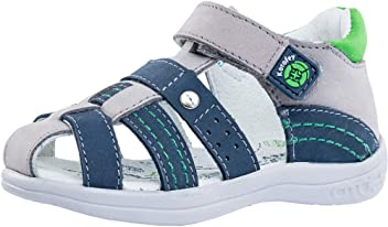 ffec8a5d3dbdb Kotofey Boys Blue Sandals 122120-22 Genuine Leather Orthopedic Sandals with  Arch Support