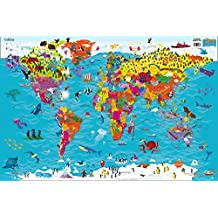 Collins Children's World Wall Laminated Map