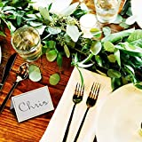 AZAZA 50 Pcs Place Cards with Gold Foil Border
