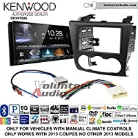 Volunteer Audio Kenwood DDX9704S Double Din Radio Install Kit with Apple Carplay Android Auto Fits 2007-2013 Nissan Altima (Manual Climate Controls)