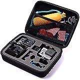 TEKCAM Action Camera Carrying Case Protective Bag Compatible with Gopro Hero 8 7/AKASO ek7000 Brave 4 6/APEMAN/Campark/Crosst