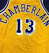daa5e58559f Wilt Chamberlain Autographed Hand Signed Los Angeles Lakers Jersey PSA DNA   W00108