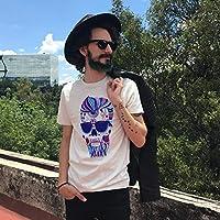 Playera de calavera hipster (Talla G)