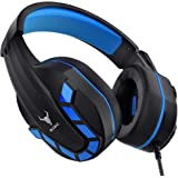 Kikc Gaming Headset with Mic for PS4, PS5, Xbox, PC, Switch, Controllable Volume Gaming Headphones with Soft Earmuffs for Mob