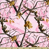 REALTREE PINK COTTON FABRIC SOLD BY THE YARD-REAL TREE COTTON PINK FABRIC-REALTREE PINK CAMOUFLAGE FABRIC