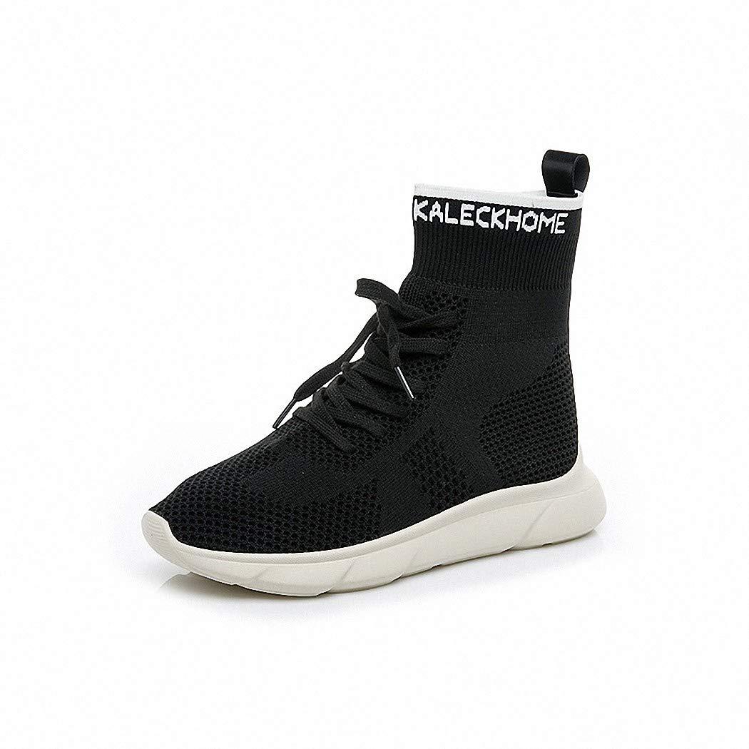 Lucdespo Ladies Casual Shoes Socks Shoes Scarpe elastico da maglia traspiranti ad elastico Scarpe alto Scarpe Hip-Hop Scarpe Hip-Hop. Nero, 36 36|nero 93bd1c