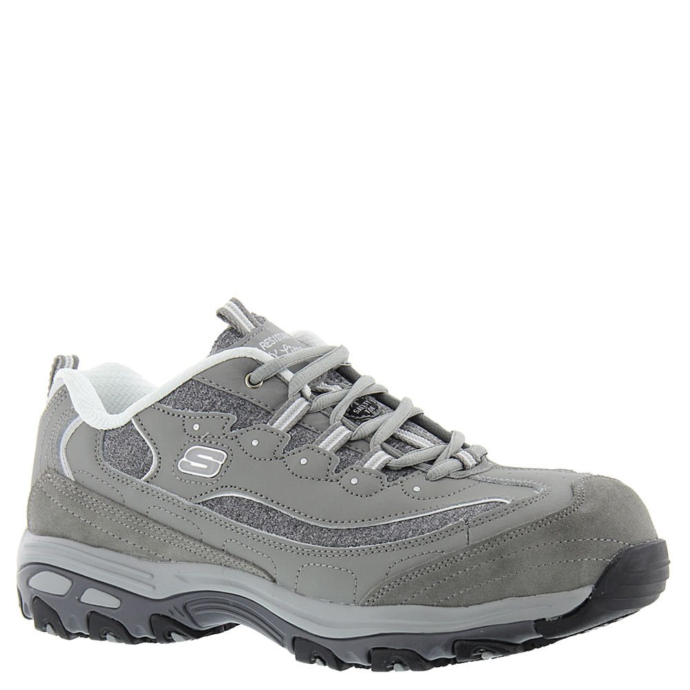 Skechers for Work Women's D'Lites Slip-Resistant Pooler Work Shoe B073X9SGCL 7.5 B(M) US|Grey