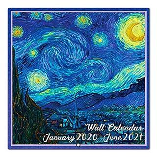 "2020-2021 Wall Calendar - 18 Monthly Wall Calendar, Jan. 2020 - Jun. 2021, 12"" x 24"" (Open), Unruled Blocks with Thick Paper"