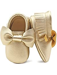 Infant Toddler Baby Soft Sole PU Leather Bowknots Shoes