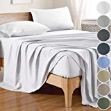 100% Bamboo Sheets Full Size (4 Pieces, 8 Colors) White Sheet Set Full with Bamboo Fitted Sheet,Bamboo Bed Sheets,Bamboo Shee