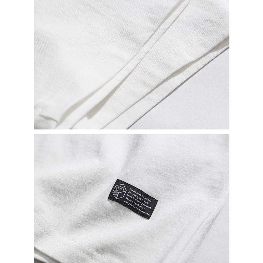 White Usopu Men's Geometric Print Round Neck Short Sleeve Sleeve Sleeve T-Shirt b677c6