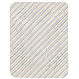 Carousel Designs Pastel Rainbow Stripe Crib