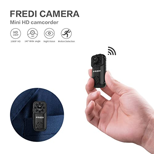 Spy Camera, FREDI HD 1080P Wireless Mini Portable Hidden Camera Indoor/Outdoor WiFi Security IP Camera with Motion Detection (L6)