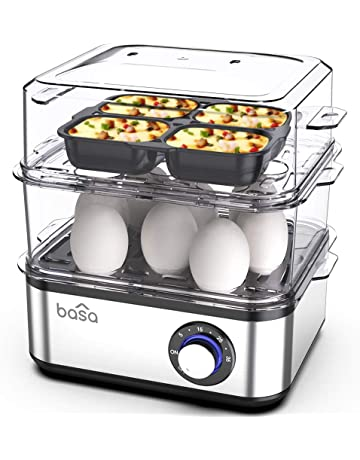 BASA Egg Cooker, 2018 New Multifunctional Electric Hard Boiled Egg Maker, 16 Egg Large