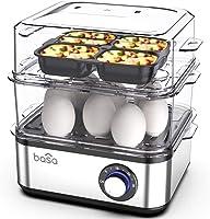 BASA Egg Cooker, 2018 New Multifunctional Electric Hard Boiled Egg Maker, 16 Egg Large Capacity Rapid Egg Boiler Steamer...