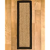 Natural Area Rugs Melrose Natural Sisal Fiber Stair Treads (Set of 13), 9 by 29, Fudge Binding