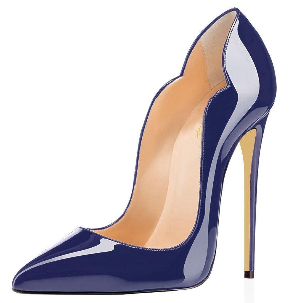 Lutalica - Zapatos de Vestir de Charol para Mujer 11.5 B(M) US|Azul