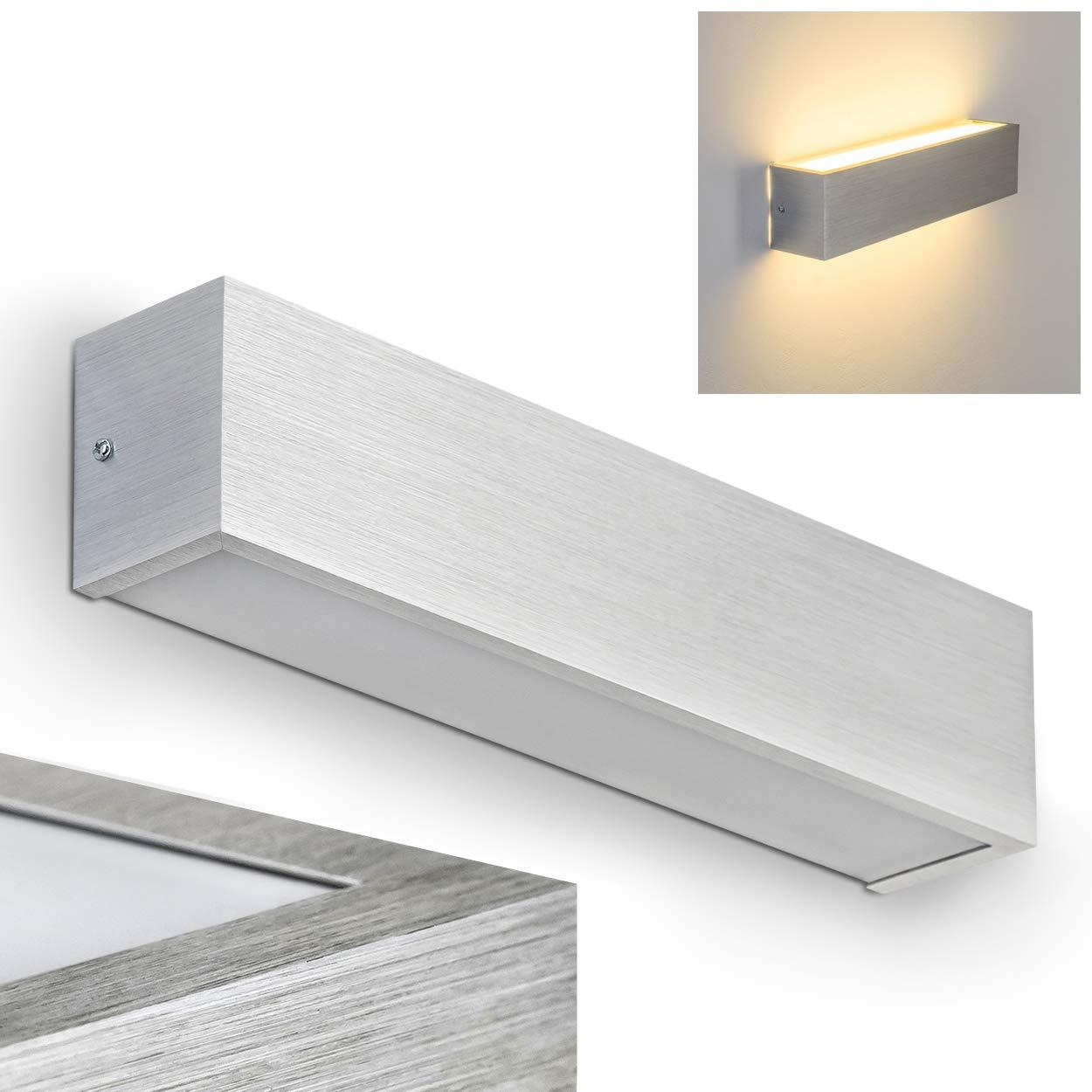LED Wandleuchte Up & Down - Wand Lampe mit Olbia mit Lampe fest eingebauten LED Leuchtmitteln 840 Lumen 3000 Kelvin - Wandstrahler mit warmweißem Licht - Geeignet als Wand Strahler LED für die Küche a1b0a7