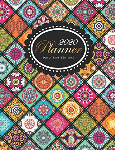 2020 Daily Planner For Seniors Mandalas Cover | Big Print 2020 Calendar Holidays | Large 12 Month And Weekly Planner | 52 Weeks Daily Dated Agenda ... , Calendars Organizers Appointment Books) [Angelica, M] (Tapa Blanda)