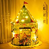 Kids Tent, Anyshock Pop Up Baby Toys Play Tent House Prince Princess Castle Dollhouse Outdoor and Indoor for 1-8 Years Old Kids Boy Girls Toddler Infant (No LED Light, Carousel Tent)