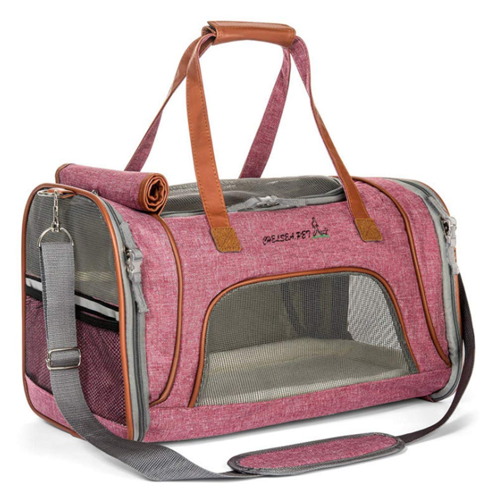 AYLS Pet Bag Dog Carrier Pet Cat Travel Bag With Fleece Mat Pet Carrier Durable For Small Dogs Cats Puppies Kittens Rabbits