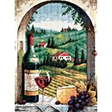 """Tuscan View Needlepoint Kit-12""""X16"""" Stitched In Floss"""