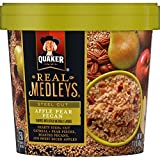 Quaker Real Medleys Instant Oatmeal, Steel Cut, Apple Pear Pecan, Breakfast Cereal (12 Cups) (Packaging May Vary)