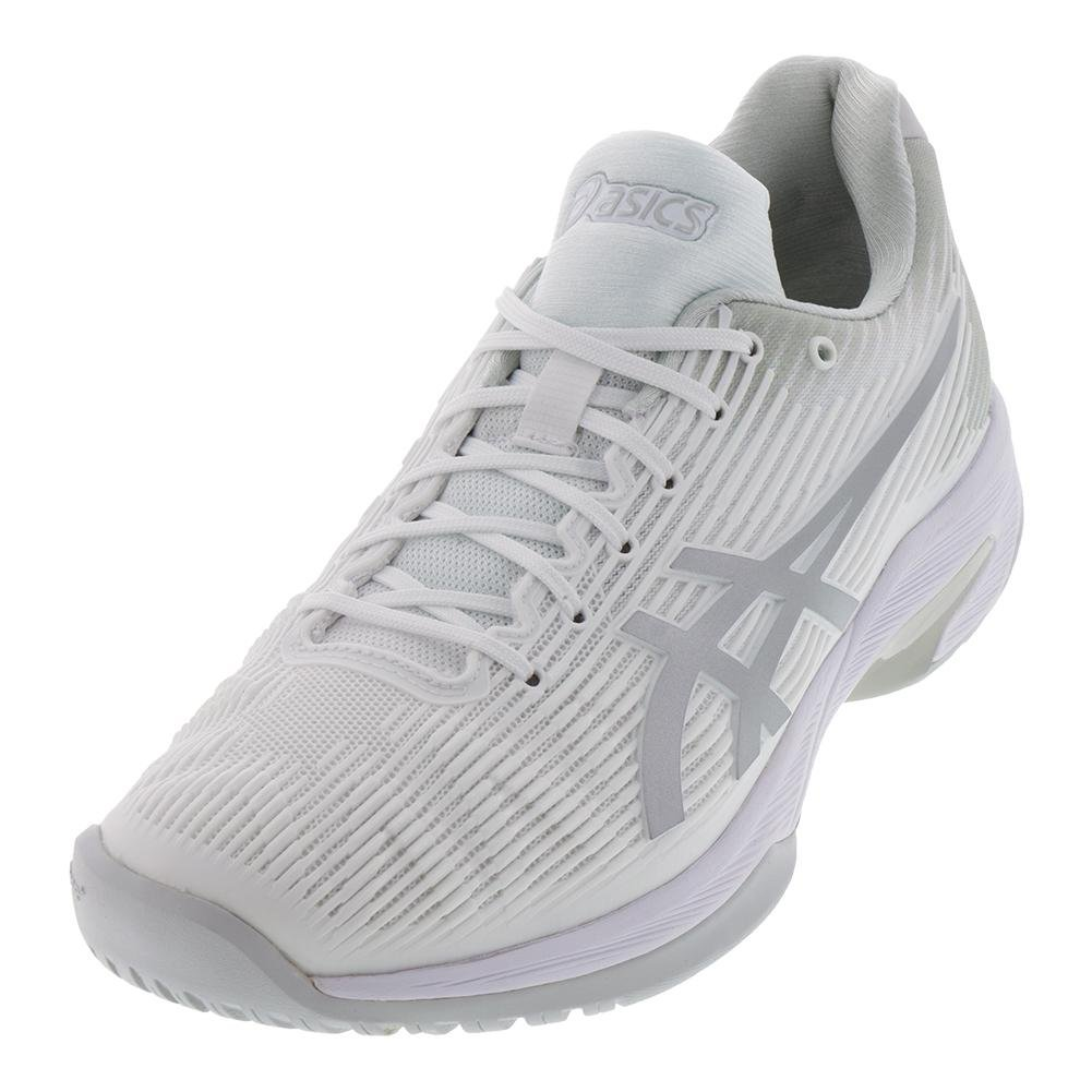ASICS Womens Solution Speed FF Tennis Shoe B077MMSQ48 9 B(M) US|White/Silver