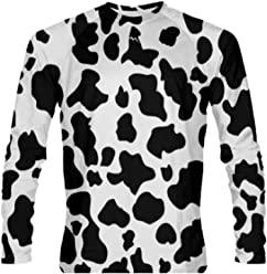 327f700ac3e LightningWear Cow Long Sleeve Athletic Shirt Halloween Cow Costume for Kids  and Adults