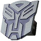 "5'' Transformer Autobot Carbon fiber (blue) 3d Logo Trailer Metal Hitch Cover Fits 2"" Receivers"