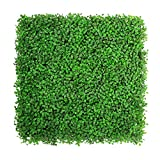 ULAND Light Green Artificial Boxwood Hedge Mat for Indoor/Outdoor Decor Office Buildings Greenery Covering, 20'' L X 20'' W (6 Piece/16.68 sq.ft.)