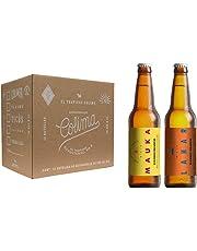12 Pack con 6 cervezas Lahar y 6 Mauka