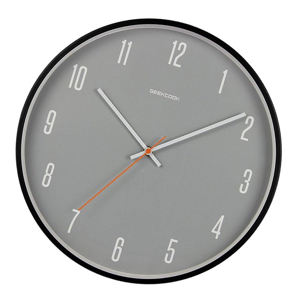 D DOLITY 30cm Wanduhr Quarz ohne Tickgeräusche Dekouhr, Modern Modern Modern und Einfach - Weiß 1  a91921