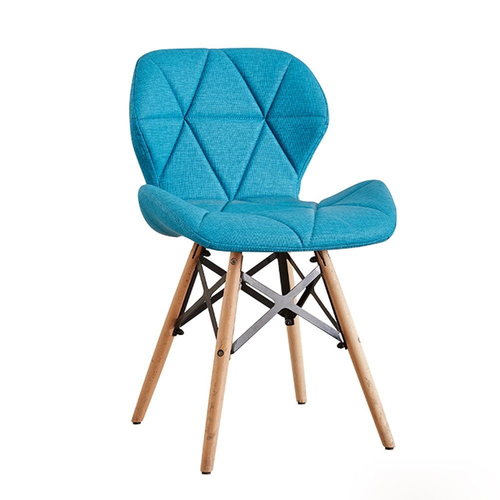 4 WGXX Chairs 0717 Solid Wood Modern Minimalist Thickening PU Material Can Be Assembled Comfort Cushions Multifunctional Wooden Chair (color   05)