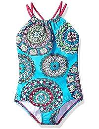 Girls' Jasmine Beach Sport Halter One Piece Swimsuit