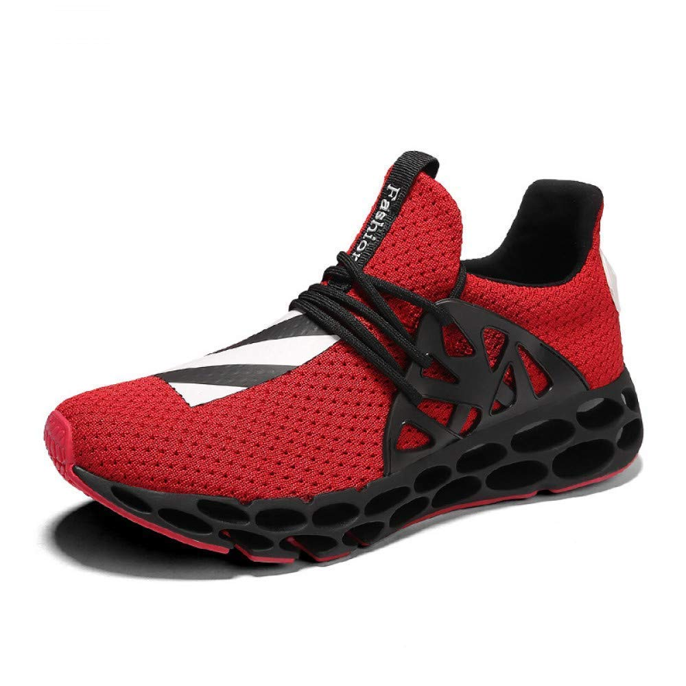 S Red 40 M EU KEREE Sports shoes New Running shoes Men's Breathable Shock Sports shoes