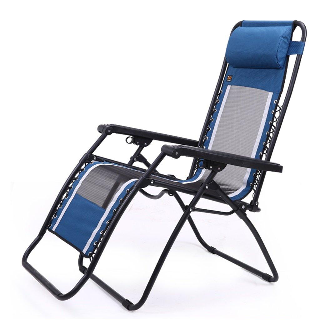 Strandstühle Falten liegend Camping Stühle mit Fußstütze Reise Outdoor Angeln tragbare Sitz Metall Chaise Lounge Chair, halten 210 kg