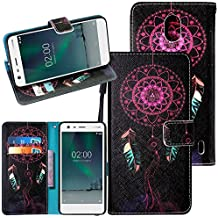 Nokia 2 Case,Harryshell Kickstand Flip PU Wallet Leather Protective Case Cover with Card Slots Wrist Strap for Nokia 2 (Dream)