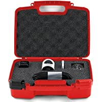 Hard Storage Carrying Case For Livestream Mevo Camera Live Event Fits Tripod, Mevo Boost, Battery Charger, USB Cable, Mount and Accessories- Red
