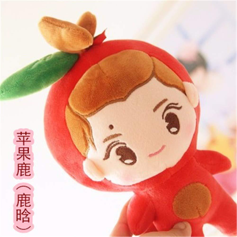 5 DIEIGEIHAO XO member cartoon doll Zhang Yixing Pu Canlie Baidu Can Dog Fox Fox Plush Doll Lu Han Zhong Xiong Doll 35CM,12