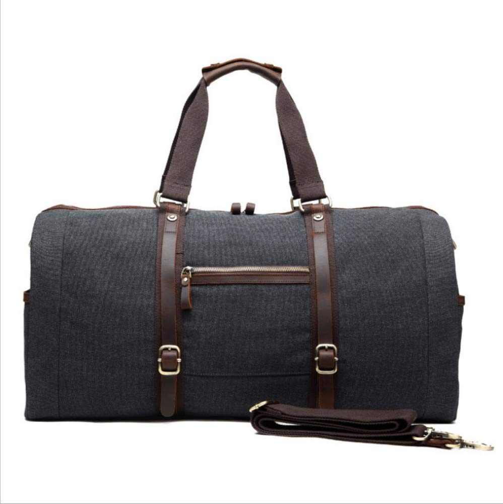 HPCAGLL New Travel Große Kapazität Handtasche Schulter Diagonal Multifunktions Gepäcktasche Casual Men Canvas Men Bag, a