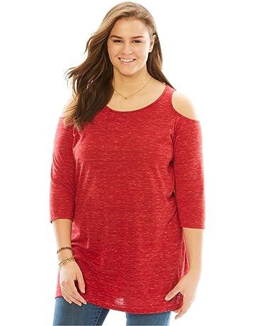 07803e0e5c9 Woman Within Women s Plus Size Cold Shoulder Tunic