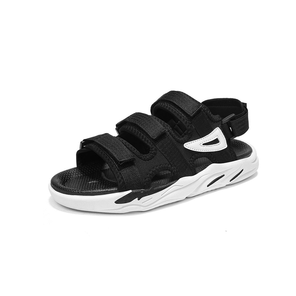 YQQ Student Sports Shoes Sandals Slippers Men's Beach Shoes Summer Travel Casual Shoes Travel Summer Shoes Male Shoes Non-Slip Soft Bottom (Color : Black, Size : EU43/UK9) B07GR5PVCF Slippers c1c990