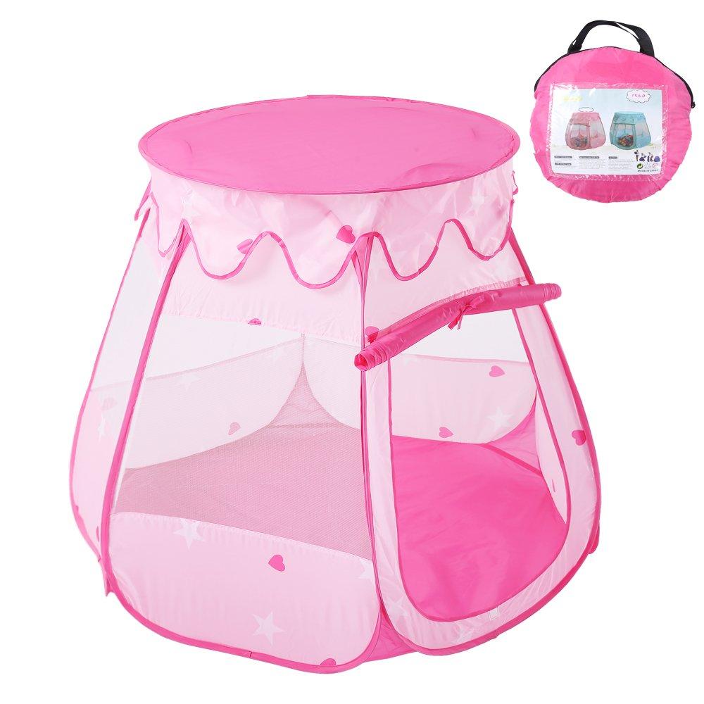 AYUE® Kinderspielzelt, Pop Up Princess Kinder Bällebad Bällebad Bällebad Zelthaus für Kinder Innen- Und Außenbereich (Pink) ede8ee